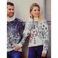 Женский свитер со снеговиком 130-112