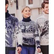 Женский свитер с лесом 130-131