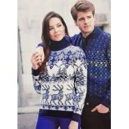 Мужской свитер тёмный 220-160
