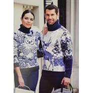 Женский свитер с совой 130-135