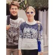 Женский свитер с зимним лесом 130-85