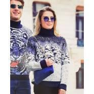 Женский свитер с картинкой – лес 130-85