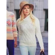 Женский свитер белый 140-02
