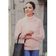 Женский свитер розовый 140-04
