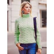 Женский свитер мятный 140-05