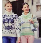 Женский свитер зелёный 140-07