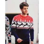Мужской свитер с оленями 220-151