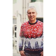 Мужской свитер с зимней композицией 220-153