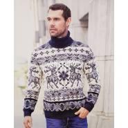 Мужской свитер с оленями 230-117
