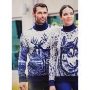Мужской свитер с оленем 230-383