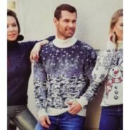 Мужской свитер с принтом – лес 230-390