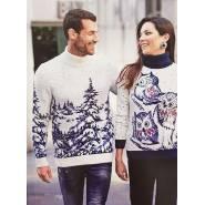Мужской свитер с принтом «Лес» 230-396