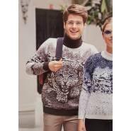 Мужской свитер с леопардом 230-398
