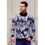 Мужской свитер с пейзажем 230-408