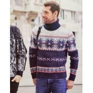 Мужской свитер с узорами 230-412