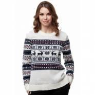 Женский вязаный свитер с оленями 6053