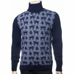 Мужской вязаный свитер с оленями 05170