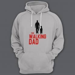 """Толстовка с капюшоном для папы с надписью """"The walking dad"""""""