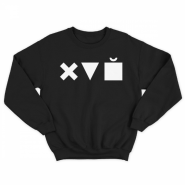 Прикольный свитшот с принтом Икс Треугольник Куб