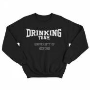 Прикольный свитшот с принтом University Of Oxford DRINKING TEAM