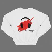 """Прикольный свитшот с надписью """"Can party"""""""