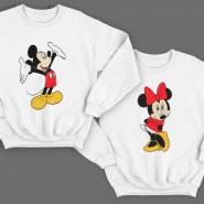 Парные свитшоты для влюбленных с Микки и Мини Маус