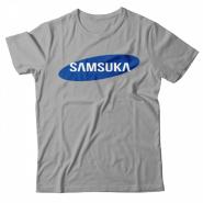 Прикольная футболка с надписью Samsuka