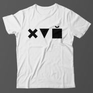 Прикольная футболка с принтом Икс Треугольник Куб