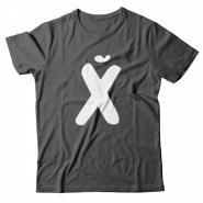 Прикольная футболка с принтом буква Х*Й