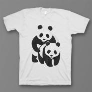"""Прикольная футболка с принтом """"Панда спит с другой пандой"""""""