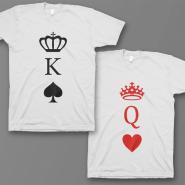 """Парные футболки для влюбленных """"Король пики и Королева черви"""""""