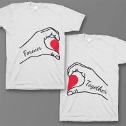 Парные футболки для влюбленных 'Forever together'