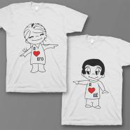 Парные футболки для влюбленных 'Я ❤️ его' / 'Я ❤️ её'