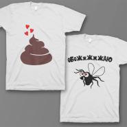 Парные футболки для влюбленных 'Обожжжжаю'