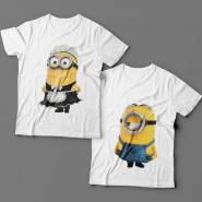 Парные футболки для влюбленных с миньонами