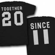 Парные футболки для двоих влюбленных