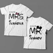 Парные футболки для мужа и жены