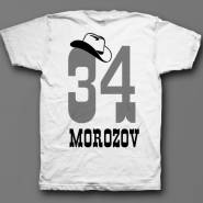Именная футболка с ковбойским шрифтом и шляпой #12