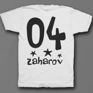 Именная футболка с мультяшным шрифтом #24