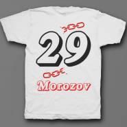 Именная футболка с объемным шрифтом и цепью #32