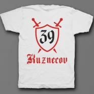 Именная футболка с средневековым шрифтом и щитом #48