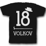 Именная футболка с ретро шрифтом, шляпой и тростью #39