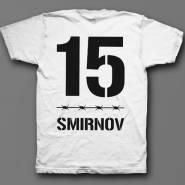 Именная футболка с тюремным шрифтом #9