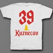 Именная футболка с шрифтом старого времени и свечой #50