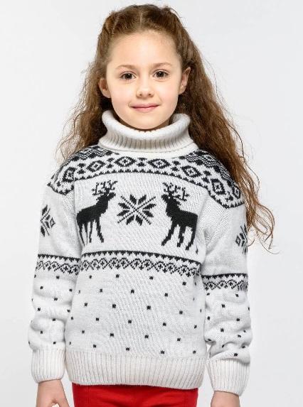 Свитер с оленями женский купить в Москве дешево