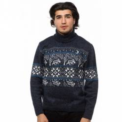 Мужской вязаный свитер с оленями 05169