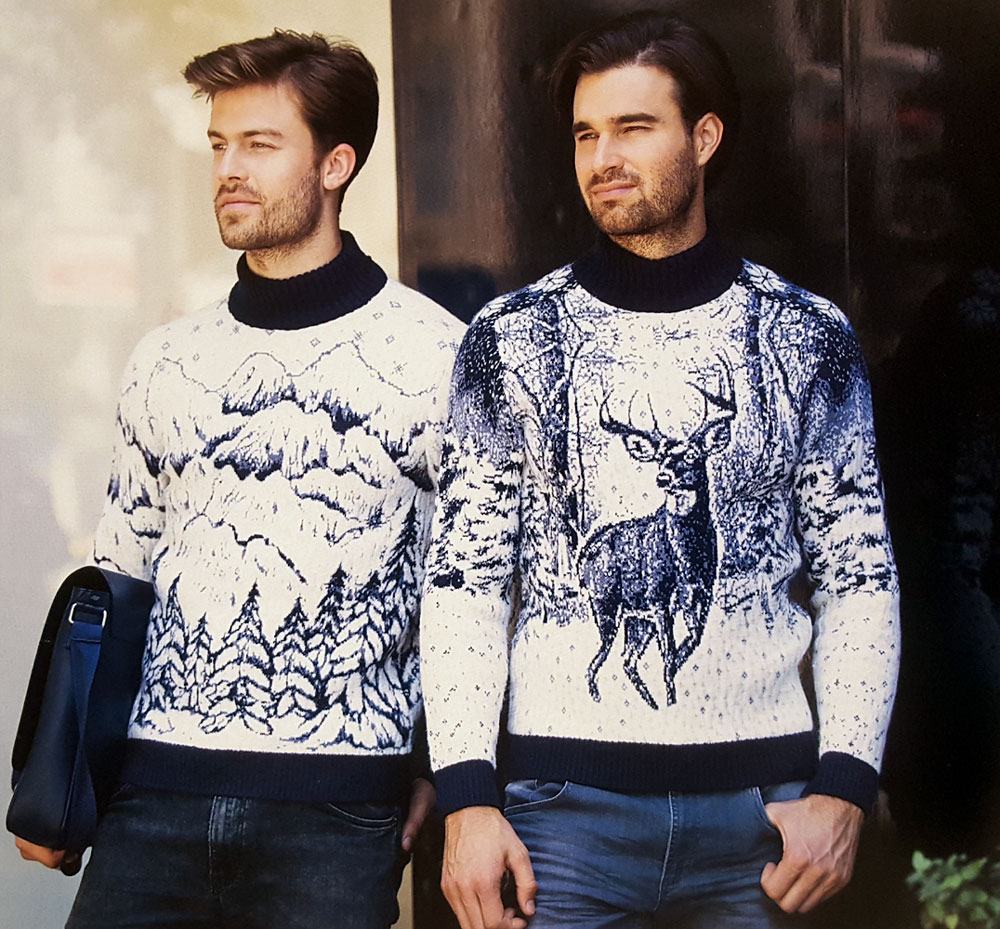 Свитеры с оленями мужские
