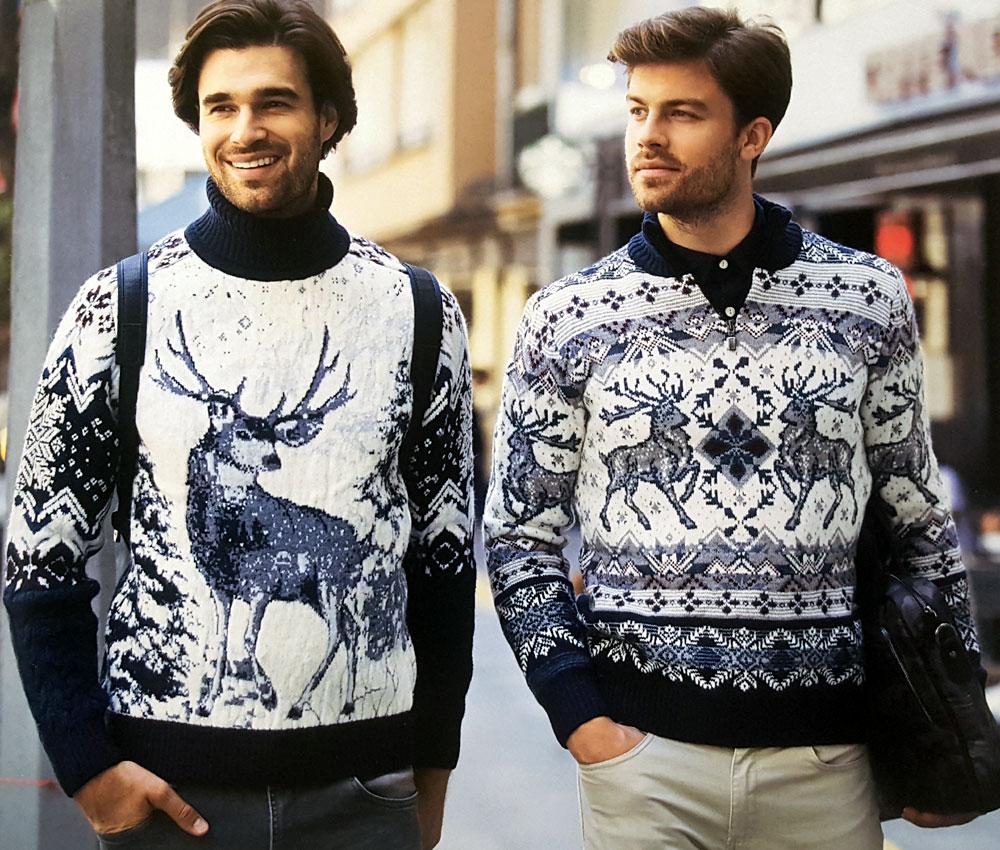 Свитеры с оленями мужские купить в Москве