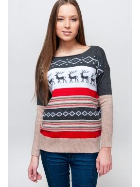Свитеры с оленями женские купить